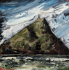 DONAGH CAREY ~ Skellig Michael II - oil on board - 15 x 15 cm - €265
