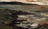 DONAGH CAREY ~ Sunset, Crewe - oil on board - 14 x 22 cm - €245