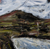 DONAGH CAREY ~ Towards the Pass - oil on board - 14 x 14 cm - SOLD