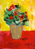 ETAIN HICKEY - Muriel's Flowers - acrylic on board - 30 x 23 cm - €200 - SOLD