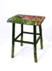 ALISON OSPINA - Greenwood Stool - Spring - handpainted by ETAIN HICKEY - €300