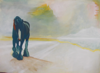FIONA WALSH ~  Antevasin Homecoming - oil on canvas - 76 x 102 cm - €900