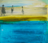 HELEN O'KEEFFE - Day at the Beach - Barleycove 1960 - oil & mixed media on board - 23 x 28 cm - €480