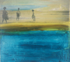 HELEN O'KEEFFE - A Day at the Beach - oil & photographic image on board - 23 x 25 cm - €420