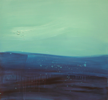 HELEN O'KEEFFE - The Deep Blue II - oil on board - part 2 of trypticth - €900 for all 3