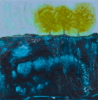 HELEN O'KEEFFE - Three Trees - oil on board - 15 x 15 cm - €300