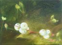 HELEN O'KEEFFE - Snowberry 2 - oil on canvas - 15 x 20 cm -€300