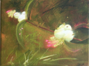 HELEN O'KEEFFE - Snowberry 3 - oil on canvas - 15 x 20 cm -€300