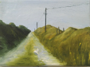 HELEN O'KEEFFE - The road to the school - oil on canvas - €295
