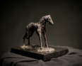 MIM SCALA ~ Hound - Bronze on black Kilkenny marble - 20 x 26 x 17 cm -edition of 10 #1 - 10 available - from €3800