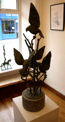 JAMES MAC CARTHY ~ Birds Alighting - unique bronze compositionon limestone - 100 x 23 cm diameteroverall 115 cm - €12500