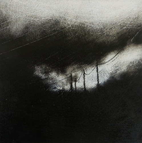 JANET MURRAN ~ Another Storm Coming Through - mixed media - 34 x 33 cm - €175 - SOLD