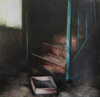 JANET MURRAN ~ The Empty Drawer I - mixed media - 43 x 43 cm - SOLD