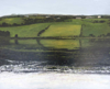 JANET MURRAN - The Fields are Framed 1 - charcoal & acrylic on panel - 60 x 75  cm - €995