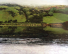 JANET MURRAN - The Fields are Framed 2 - charcoal & acrylic on panel - 60 x 75  cm - €995 - SOLD