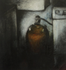 JANET MURRAN ~ The Gas Bottle I - mixed media - 32 x 31 cm - €175 - SOLD