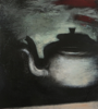 JANET MURRAN ~ The Kettle - mixed media - 40.5 x 38 cm - €295