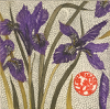 JEAN BARDON - Winter Irises - etching with gold leaf - 43 x 39 cm