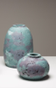 KATHLEEN STANDEN - Green & Lilac Vessel - coloured porcelain clay - Large €250 - Small €125 - small SOLD