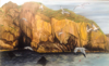 KEITH PAYNE ~ Basking off Goat Islandacrylic on canvas73 x 120 cm