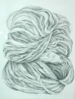 LAURA O'DELL - A Ball of Wool - pencil on paper - 76 x 56 cm - guide price €120