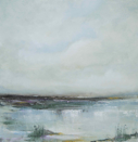 LESLEY COX -Dark at the edges - oil on canvas - 25 x 25 cm - €300