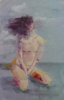 LESLEY COX - Nude III - oil on canvas paper - 46 x 35 cm - €200