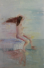 LESLEY COX - Nude V - oil on canvas paper - 46 x 35 cm - €200