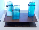 LUKE SISK - Lambada=Velocity/Frequency - kiln fired glass - €1350