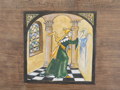 LYNDA MILLER-BAKER - The Fresco Painter - Icon painting on wood - 30 x 28 cm - €650