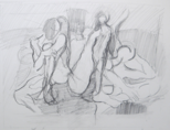 NIGEL JAMES - Figure Group - pencil on paper - €250