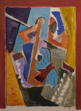 NIGEL JAMES ~ Guitar - mixed media on paper - 40 x 30 cm - €600