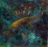 NONA PETTERSEN ~ Devil Fish II - oil on gesso panel - 30 x 30 cm