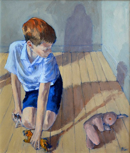 PATRICIA CARR ~ Boy Playing - oil on canvas - 84 x 74 cm - €1200