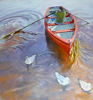PATRICIA CARR ~Red Boat with Seagulls - oil on canvas - 71 x 76 cm - €1500