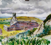 PATRICIA CARR ~ Ruin, Cappaghbeg - watercolour, pen & ink - 74 x 75 cm - €650