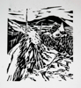 PATRICIA CARR ~ The End of the Road - linocut - 35 x 38 cm - €250