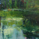 PAULINE AGNEW - Spring Pond -oil on canvas - 80 x 80 cm - €1900