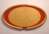 ROBERT WHITESIDE ~ Red Sycamore Eliptical Tray - rippled sycamore, maple & red veneer - 570 x 340 x 30 mm - made to order from €750