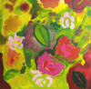 SARAH LONG - It's been a good year for the Roses - oil and media on canvas - 40 x 40 cm - €395