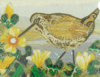 SUKEY SINDALL - Woodcock on the Marsh - textile 38 x 44 cm - €200
