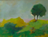 TERRY SEARLE ~ Little Tree -  acrylic on canvas - 24 x 31 cm - €250