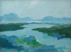 TERRY SEARLE - View from the Island - acrylic on canvas - 24 x 16 cm - guide price €150