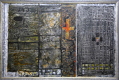 THURLOE CONOLLY 1918-2016 - Dark Stasis - acrylic and mixed media on board - 88 x 129 cm - €7500
