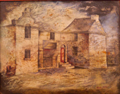 THURLOE CONOLLY 1918-2016 - Old House at Bray (1948) - oil and mixed media on board - 60 x 70 cm - N.F.S.