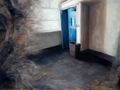 VAUNEY STRAHAN - In emergency break glass- oil on panel - 32 x 42 cm - €550