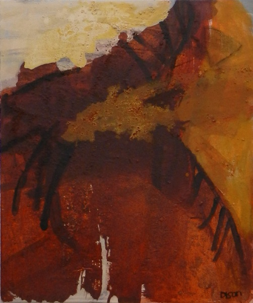 WENDY DISON ~ Fires set by the Dead - Oil on Canvas on Board                 61 x 51 cm - €1100