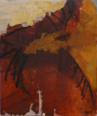 WENDY DISON ~ Fires set by The Dead - oil on canvas on board - 61 x 51 cm - €1100