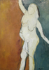 WENDY DISON - White Nude - oil & charcoal on board - 60 x 43 cm - guide price €350